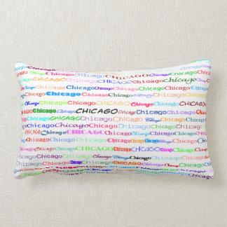 Chicago Text Design II Lumbar Pillow
