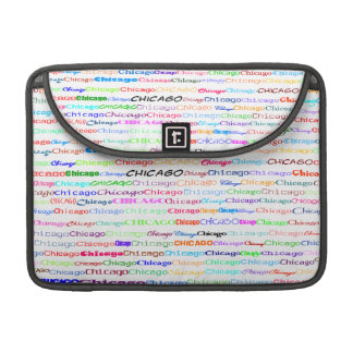 Chicago Text Design II MacBook Pro Flap Sleeve