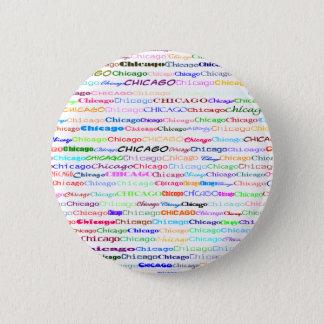 Chicago Text Design II Round Button