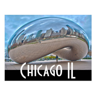 chicago - the bean postcard