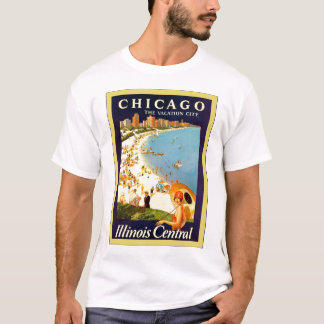 Chicago ~ The Vacation City ~ Vintage Travel T-Shirt