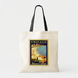 Chicago ~ The Vacation City ~ Vintage Travel Tote Bag