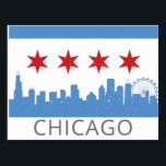 "Chicago: The Windy City Postcard<br><div class=""desc"">Chicago is a truly unique and crazy fun city.  Show off your love for Chicago with this skyline,  flag combo postcard!</div>"