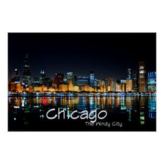 CHICAGO - THE WINDY CITY POSTER