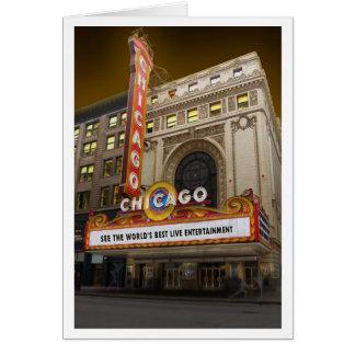 Chicago Thearter Tarjeta Pequeña