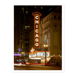 Chicago Theater, Chicago Illinois Travel Post Card