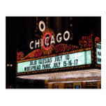 Chicago Theater Marquee Post Card Post Card
