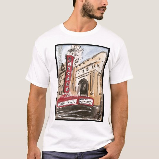 Chicago Theater T-Shirt Original Art by Mandee