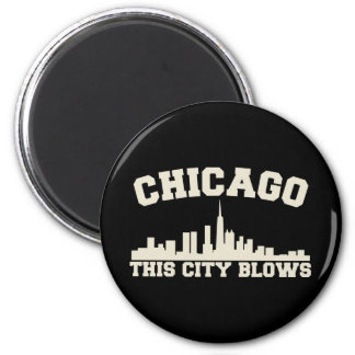 Chicago: This City Blows 2 Inch Round Magnet