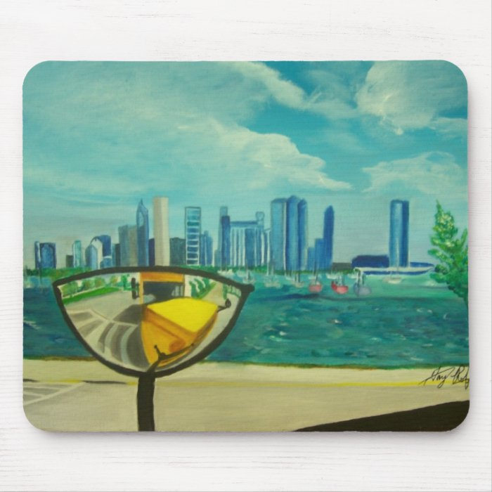 Chicago through cateyes mouse pad