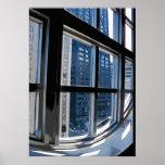 Chicago Through Window Poster