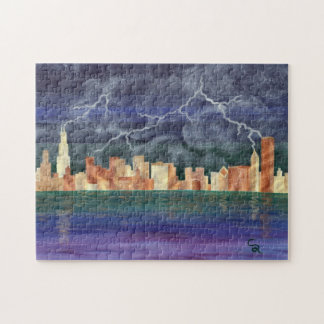 Chicago Thunderstorm Jigsaw Puzzles
