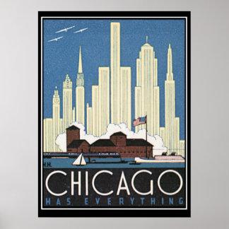 Chicago tiene todo impresión del vintage póster
