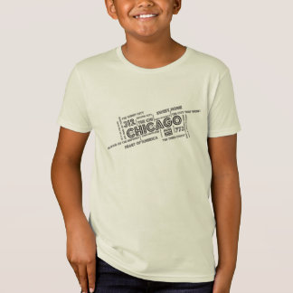 Chicago Tilted Word Cloud Kid's Gear T-Shirt