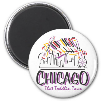 CHICAGO-TODDLIN-TOWN MAGNET