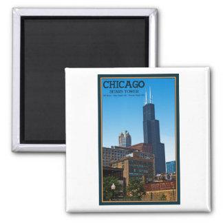 Chicago - Torre Sears Imán De Nevera