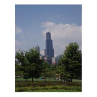 Chicago Torre Sears/postal de la torre de Willis