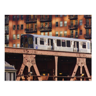 Chicago Train at Riverbend Postcard