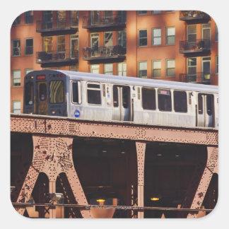 Chicago Train at Riverbend Square Sticker