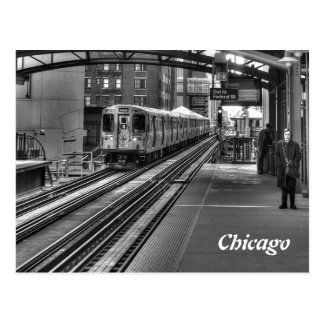 Chicago Train Postcard