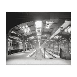Chicago Train Station, 1920. Vintage Photo Canvas Print