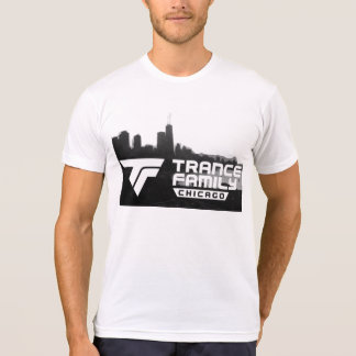 Chicago Trance Family City Black and White T-Shirt