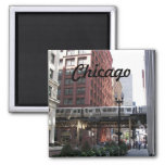 Chicago Travel Photo 2 Inch Square Magnet