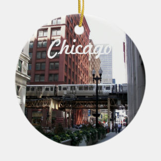 Chicago Travel Photo Ceramic Ornament