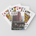 "Chicago Travel Photo Playing Cards<br><div class=""desc"">Start a game of poker or other card game with this deck of playing cards that features a photo image of downtown Chicago and its famous elevated, commuter loop train. Makes a great travel souvenir gift for family and friends! To see other products we have to offer, click on the...</div>"
