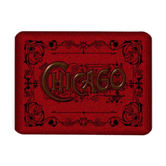 Chicago Travel Souvenier Magnet Old Timey Look Rectangle Magnets