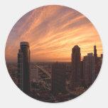 Chicago Twlight Round Stickers