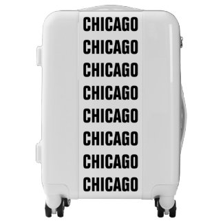 CHICAGO, Typo black Luggage