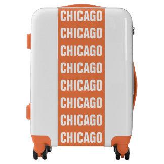 CHICAGO, Typo white Luggage
