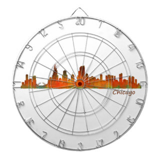 Chicago U.S. Skyline cityscape Dart Board