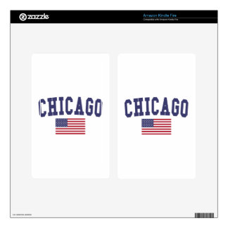 Chicago US Flag Kindle Fire Decals