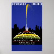 Chicago USA Vintage Travel Poster Restored