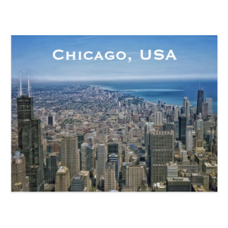Chicago, USA Vintage Travel Tourism Add Postcard