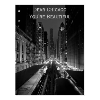 Chicago usted es hermoso postales