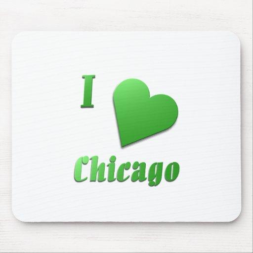 Chicago -- Verde de Kelly Alfombrilla De Raton