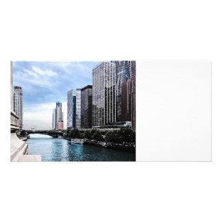 Chicago - View From Michigan Avenue Bridge Card
