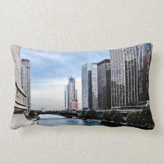 Chicago - View From Michigan Avenue Bridge Lumbar Pillow