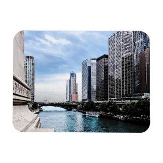 Chicago - View From Michigan Avenue Bridge Rectangular Magnet