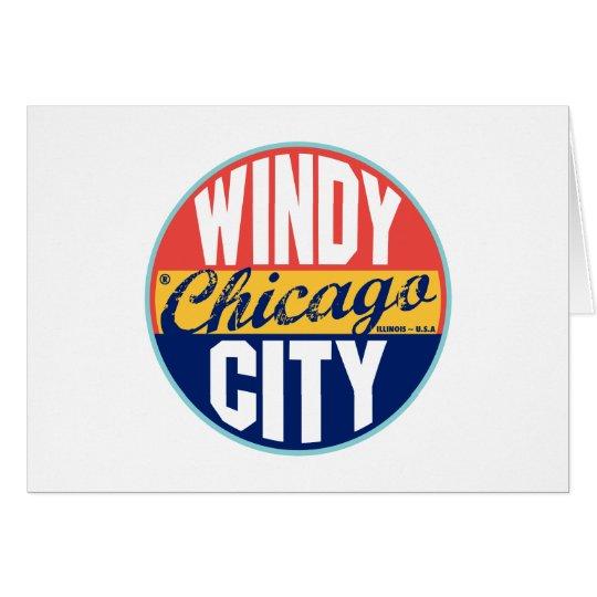 Chicago Vintage Label Card