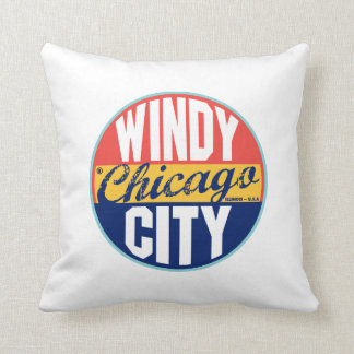 Chicago Vintage Label Pillows