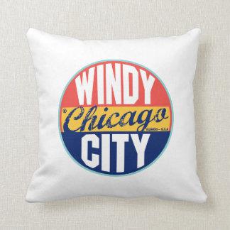 Chicago Vintage Label Pillows