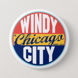 Chicago Vintage Label Pinback Button