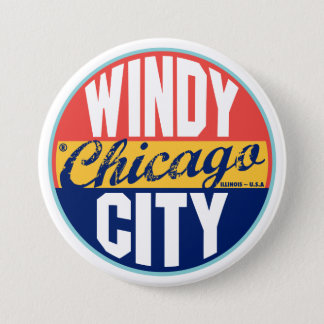 Chicago Vintage Label Pinback Button