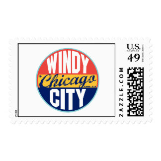 Chicago Vintage Label Postage