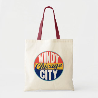 Chicago Vintage Label Tote Bag