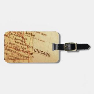 CHICAGO Vintage Map Bag Tag